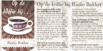 Op de koffie bij Radio Bakker