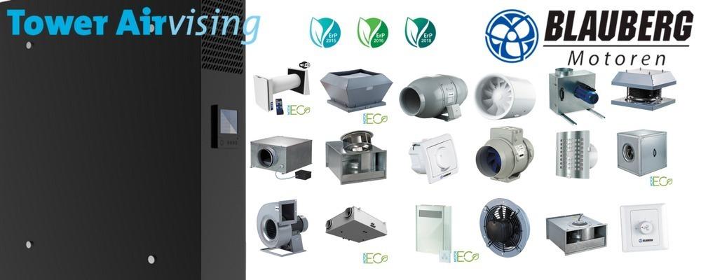 Nieuw, Importeur & distributeur van Blauberg ventilatoren