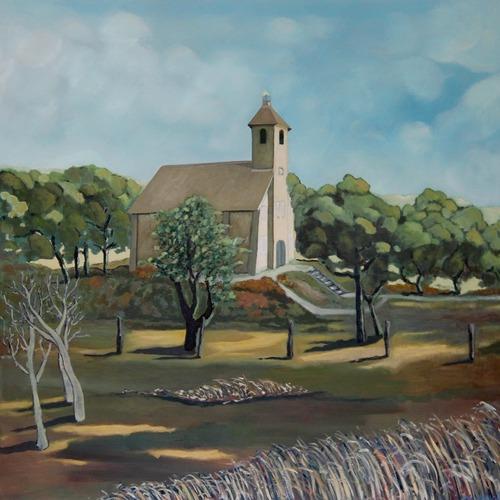 'Retour' - Schilderijen door Hans van Marwijk tijdens de Kunst10Daagse in het Vredeskerkje in Bergen aan Zee